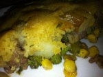 Beef Corn & Broccoli Cornbread Pot Pie