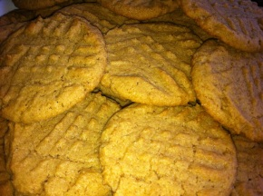 Whole Wheat Peanut Butter Cookies (Dairy Free)