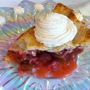 Strawberry Rhubarb Pie {and Grandma's RhubarbPie}