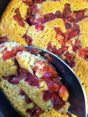 Skillet Cherry Cobbler {Whole Wheat and DairyFree}