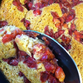 Skillet Cherry Cobbler {Whole Wheat and Dairy Free}
