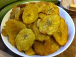Patacones {Panamanian double-fried plantains}