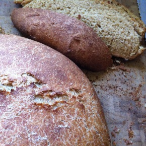 No-Knead Crusty Whole Wheat Bread {with an overnight rise}