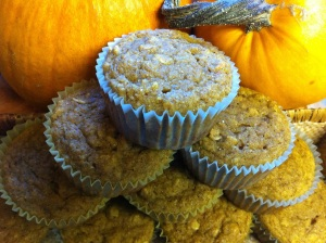Whole Wheat Pumpkin Oat Muffins
