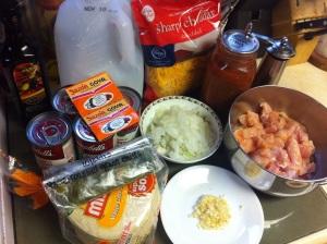 Green Chili Chicken Enchilada ingredients