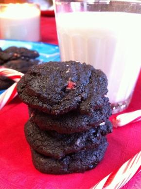 Dark Chocolate Peppermint Cookies{gluten-free}