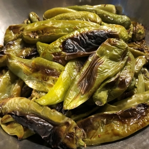 Oven Roasted Hatch Green Chiles